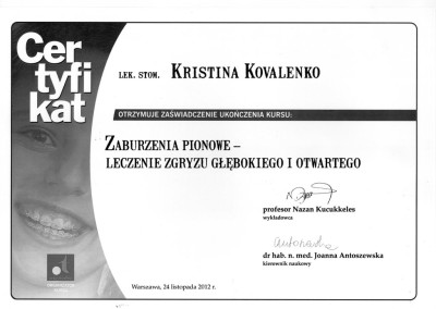ortodonta_Kovalenko_Kristina_certyfikat_11