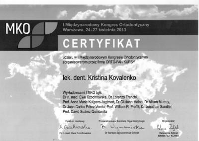 ortodonta_Kovalenko_Kristina_certyfikat_4