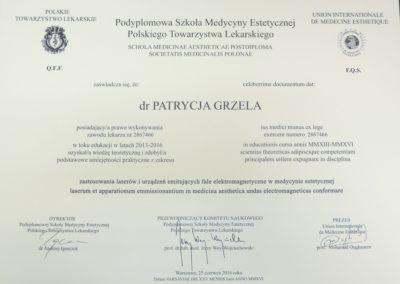 Dyplom Grzela Patrycja Demed Zastosowanie Laser Fale Elektromagnetyczne